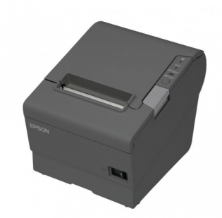 Принтер чеков Epson TM-T88V, USB+Ethernet, EDG + PS-180 темный